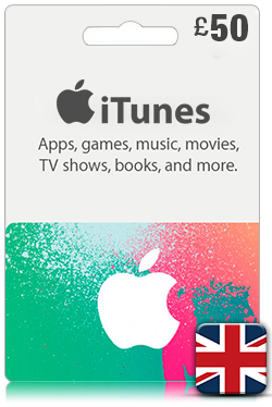 iTunes Gift Card 50 GBP- UK