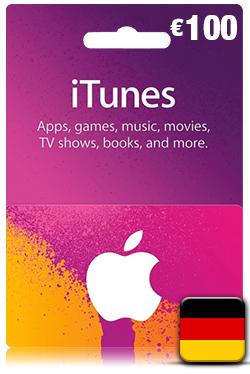 iTunes Gift Card 100 Euro- DE