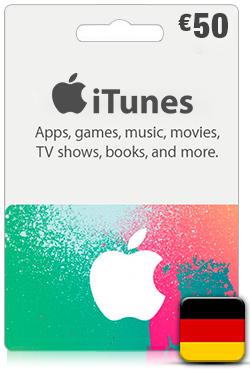 iTunes Gift Card 50 Euro- DE