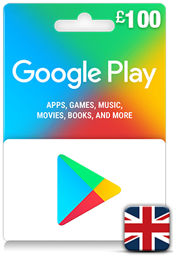 Google Play Gift Card 100 GBP - UK