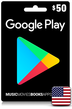 Google Play Gift Card 50 USD - US