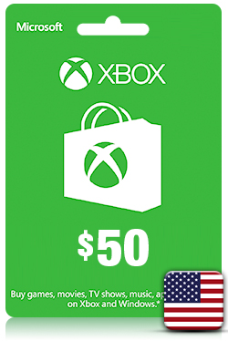 Xbox Live Gift Card - 50 USD [ US ]