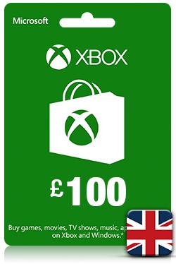 Xbox Live Gift Card - 100 GBP [ UK ]