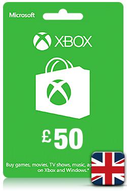 Xbox Live Gift Card - 50 GBP [ UK ]