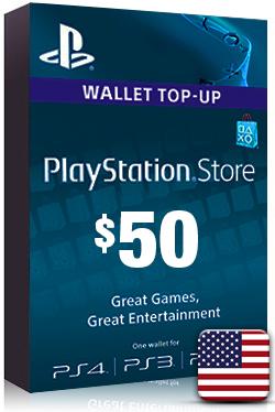 PlayStation Network Card PSN Key 50 Dollar [ US ]