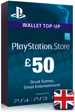 PlayStation Network Card PSN Key 50 Pound [ UK ]
